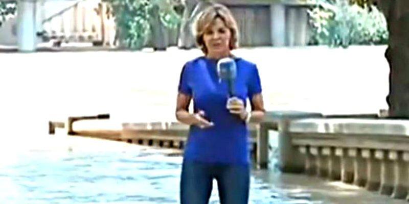 Los tarados de Twitter cargan contra Almudena Ariza por mojarse los pies con el Huracán Harvey