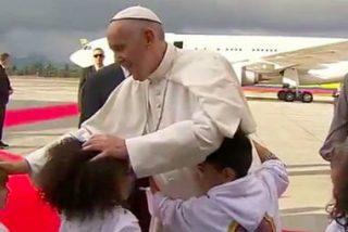 """Francisco vence a """"Irma"""" y aterriza en Bogotá"""
