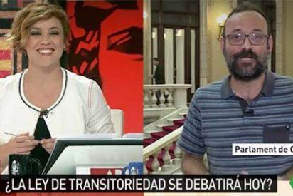 Cristina Pardo se descojona de un diputado de la CUP que convierte 'Al Rojo Vivo' en 'El Club de la Comedia' con sus ridículos argumentos separatistas