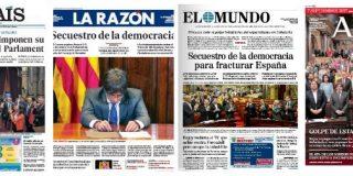 Cataluña, secuestrada por unos sediciosos y desharrapados sin moral, avanza hacia el suicidio colectivo