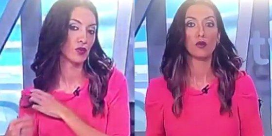 ¡Controla a tu tropa, Gundín! Momentazo en TVE de una presentadora pillada 'in fraganti' atusándose el pelo en el plató