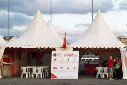 [VÍDEO] Así boicotean los Independentistas la carpa de Ciudadanos durante las fiestas de Santa Coloma
