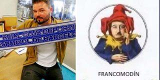 Gabriel Rufián, ante la escasez de argumentos, recurre al 'francomodín' y en Twitter le ponen a caldo