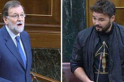 """El agresivo 'hooligan' Rufián insulta gravemente a Rajoy: """"¡Saque sus sucias manos de las instituciones catalanas!"""""""