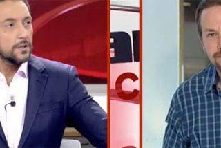 España a punto de saltar en mil pedazos y Pablo Iglesias a lo suyo: despide la entrevista con Javier Ruiz con otro guiño de ojo