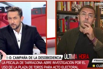 Javier Ruiz le mete un corte de aúpa a Monedero por apoyar que en Cataluña se pisotee la ley de cara al 1-O
