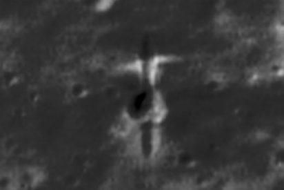 Descubren una nave espacial que impactó en la Luna