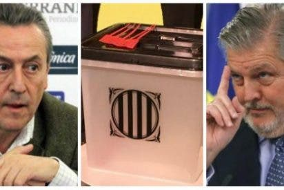 Tertsch acorrala y le sacude una buena tunda al portavoz de Rajoy por hacer bromas con las urnas del 1-O