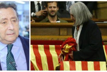 """Alfonso Ussía hace picadillo a la """"albóngida burra"""" podemita que retiró una bandera española"""