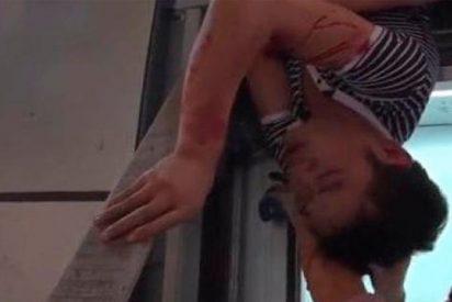 [VÍDEO+18] Este hombre sufre terrible accidente en un ascensor