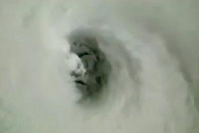 [VÍDEO] Captan este escalofriante rostro dentro del huracán Irma