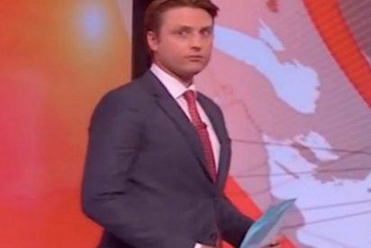 [VÍDEO] Este periodista de la BBC pasó el momento más ridículo de su carrera durante un programa en vivo