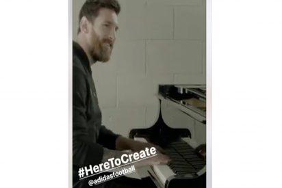 [VÍDEO] ¡Insólito! Messi tocando el piano