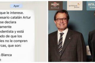 Las redes piden boicotear al empresario catalán dueño del 'Yatekomo' por apoyar con fervor a los separatistas