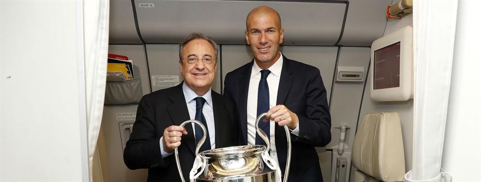 Zidane avisa a Florentino Pérez: Las tres operaciones que pueden 'caer' en el mercado de invierno