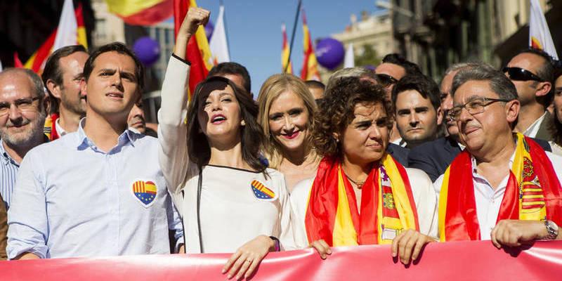 El PSC ha sido gran ausente de la manifestación de Barcelona