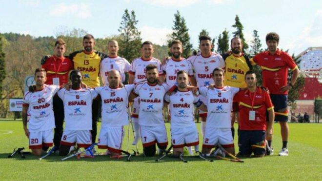 España termina cuarta en el Europeo de fútbol para amputados