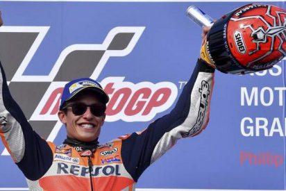 Marc Márquez gana a las Yamaha en una carrera épica y endereza el campeonato