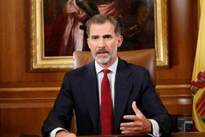 """El mensaje del Rey a Rajoy, el Congreso y los jueces no deja dudas: """"Restauren la Ley en Cataluña"""""""