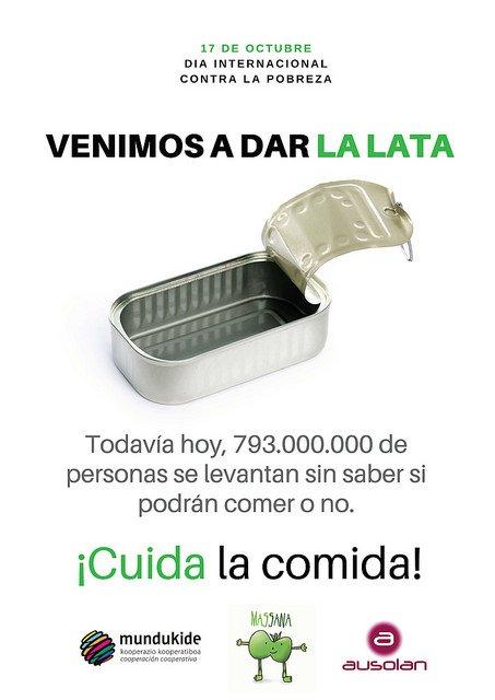 """Ausolan """"da la lata"""" contra la pobreza"""