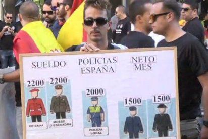 Policías y guardias civiles claman por un salario decente, al menos como el de los Mossos