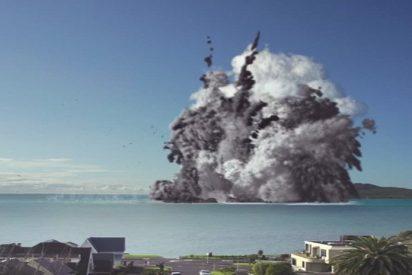 [VIDEO] 'Erupción' de un volcán submarino 'destruye' la ciudad más poblada de Nueva Zelanda