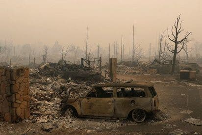 El 'apocalipsis' en California grabado por un dron
