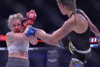 [VIDEO] Así quedó la cara de Heather Hardy tras perder su segunda pelea como profesional