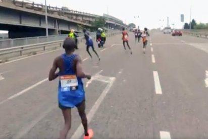 [VIDEO] ¡De chiste!: Un Italiano gana el maratón de Venecia después de que los favoritos se equivocaran de ruta