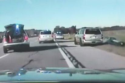 [VIDEO] Policías de EE.UU. persiguen en coche durante una hora a un niño de 10 años