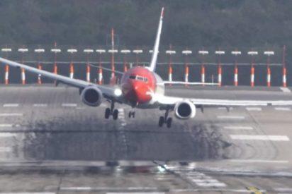 [VIDEO] Aterrizajes de infarto durante la tormenta Herwart en Alemania
