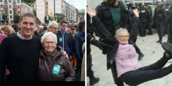 La pacífica abuelita a la que se tuvo que llevar la Policía es una fan de terroristas