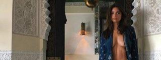 Emily Ratajkowski escandaliza a Marruecos con esta fotografía