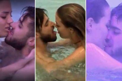 El calentón de Alyson y Rubén: las imágenes inéditas de su 'piscining' en 'GH Revolution'