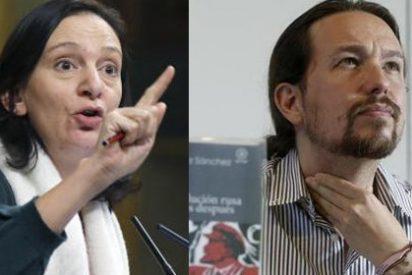 La purgada Carolina Bescansa critica sin disimulo y con saña a Pablo Iglesias por los pasillos del Congreso de los Diputados