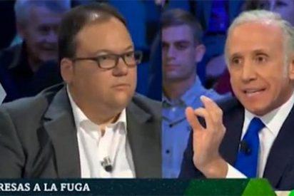 Eduardo Inda le ajusta las cuentas de la independencia catalana al zopenco protoseparatista Ferrán Casas