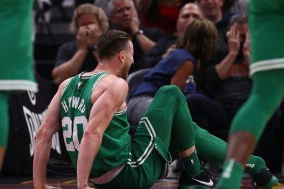 [VIDEO] Así fue la terrible fractura en el tobillo izquierdo que sufrió Hayward en su debut con Celtics
