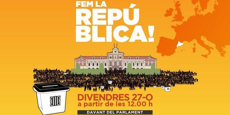 La ANC convoca a sus asociados el viernes para celebrar la proclamación de la República Catalana