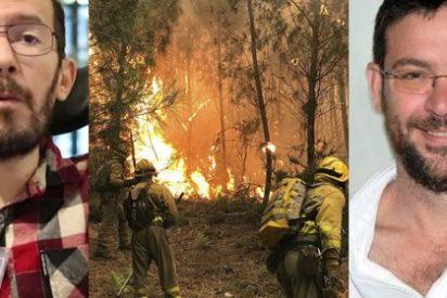 Esto es Podemos: Echenique y Dante-Fachin muestran su mezquina condición por hacerse los iluminados con los dramáticos incendios de Galicia