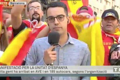 Así defeca TV3 con sus escondidos micrófonos sobre la manifestación de Barcelona