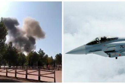 Muere el piloto del avión del Ejército que se estrelló en Albacete tras participar en el desfile