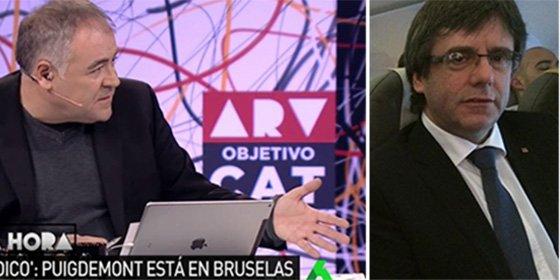 """Puigdemont se fuga de su República Catalana y Ferreras le da para el pelo: """"¡Se ha ido de forma clandestina!"""""""