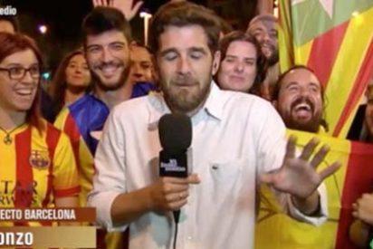 El deplorable directo de Gonzo entre risas con los 'catabatasunos' que acosan a Ferreras y sus compañeros de laSexta