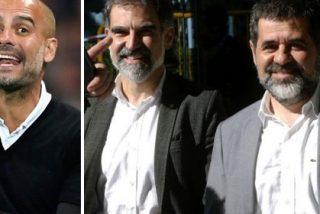 Guardiola dedica la victoria a dos delincuentes como 'los Jordis' y añade que sus organizaciones golpistas
