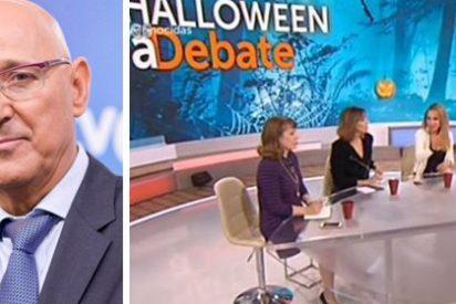 ¿Te faltan traductores, Gundín? TVE vuelve a hacer el ridículo por no retransmitir la comparecencia de Puigdemont por La1