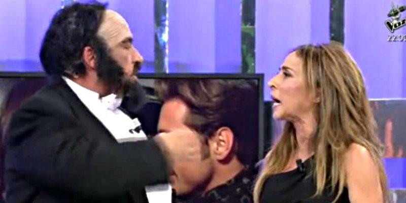 'Sálvame': María Patiño y Gustavo Gonzalez se tiran de los pelos y casi llegan a las manos