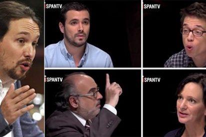 'Zas en toda la boca': Podemos critica a los medios por no sentar a mujeres en sus tertulias, algo que no hace Iglesias en 'Fort Apache'