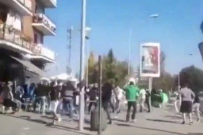 [VIDEO] Pelea callejera con heridos entre seguidores del Alavés y Racing