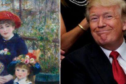 Donald Trump presume de 'Renoir' y resulta que el cuadro es más falso que un dólar de madera