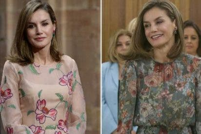 Letizia repite vestido de flores pero no precio